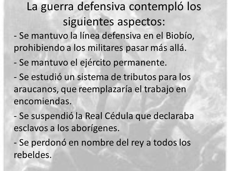 La guerra defensiva contempló los siguientes aspectos: