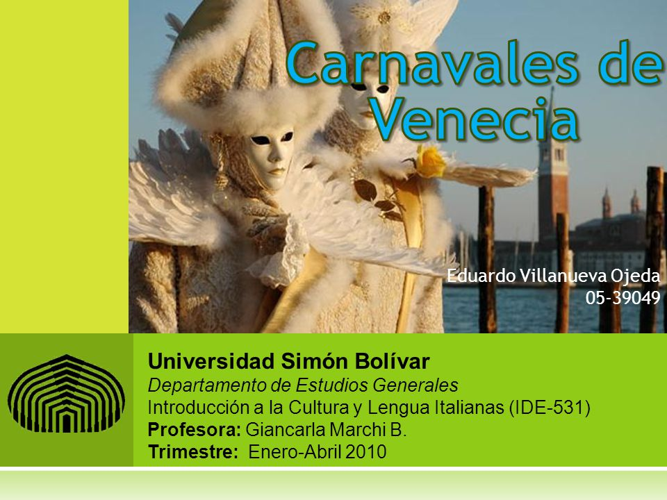 Carnavales de Venecia Universidad Simón Bolívar