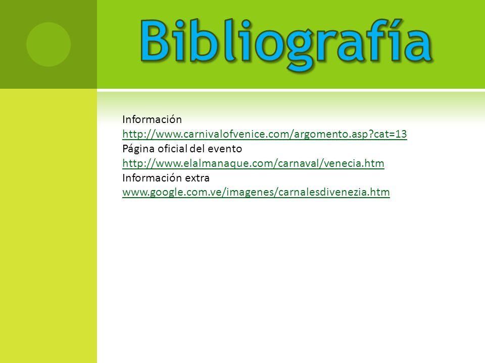 Bibliografía Información