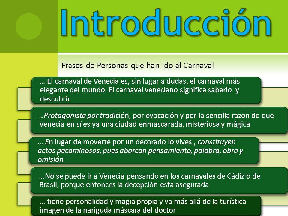Introducción Frases de Personas que han ido al Carnaval