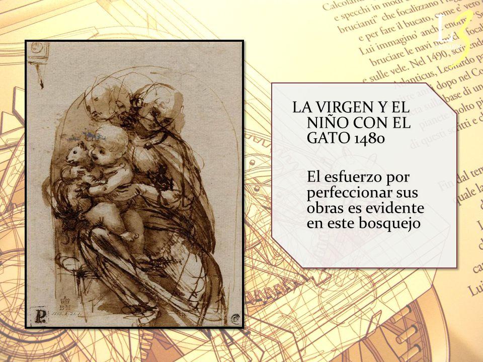 LA VIRGEN Y EL NIÑO CON EL GATO 1480
