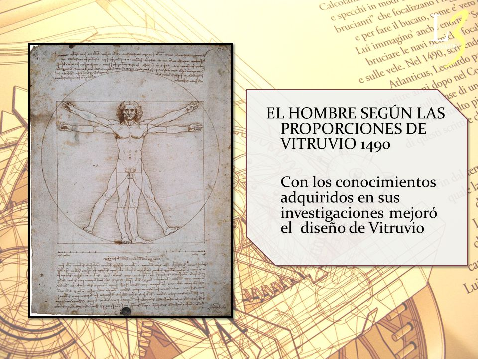 EL HOMBRE SEGÚN LAS PROPORCIONES DE VITRUVIO 1490