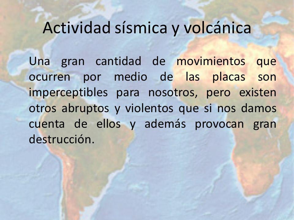 Actividad sísmica y volcánica
