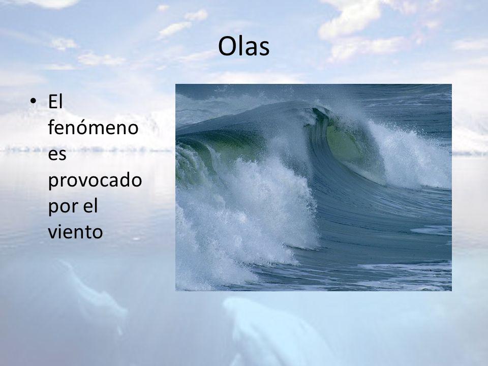 Olas El fenómeno es provocado por el viento