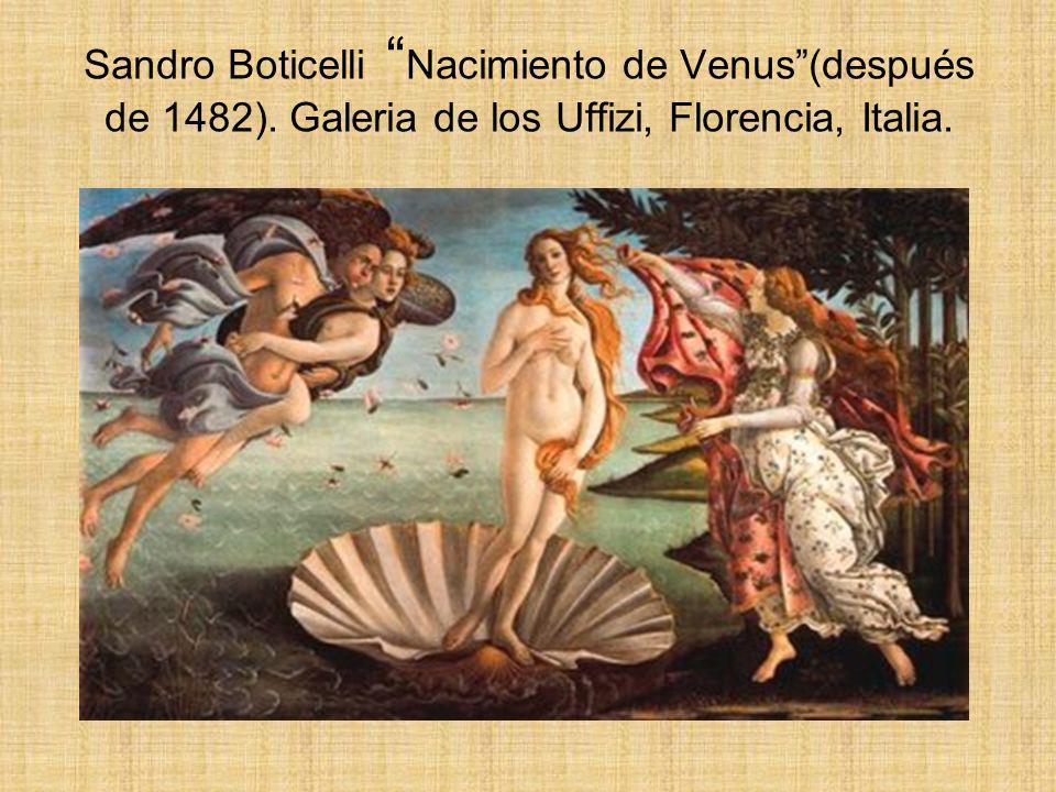 Sandro Boticelli Nacimiento de Venus (después de 1482)
