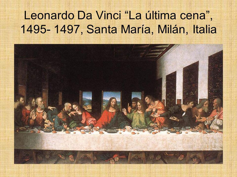Leonardo Da Vinci La última cena , 1495- 1497, Santa María, Milán, Italia