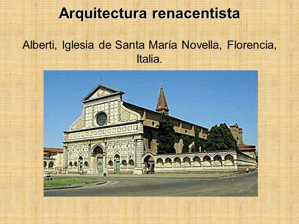 Arquitectura renacentista Alberti, Iglesia de Santa María Novella, Florencia, Italia.
