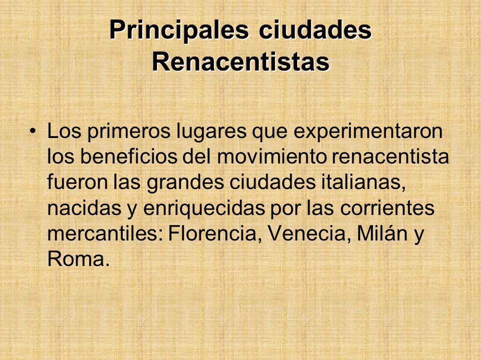 Principales ciudades Renacentistas