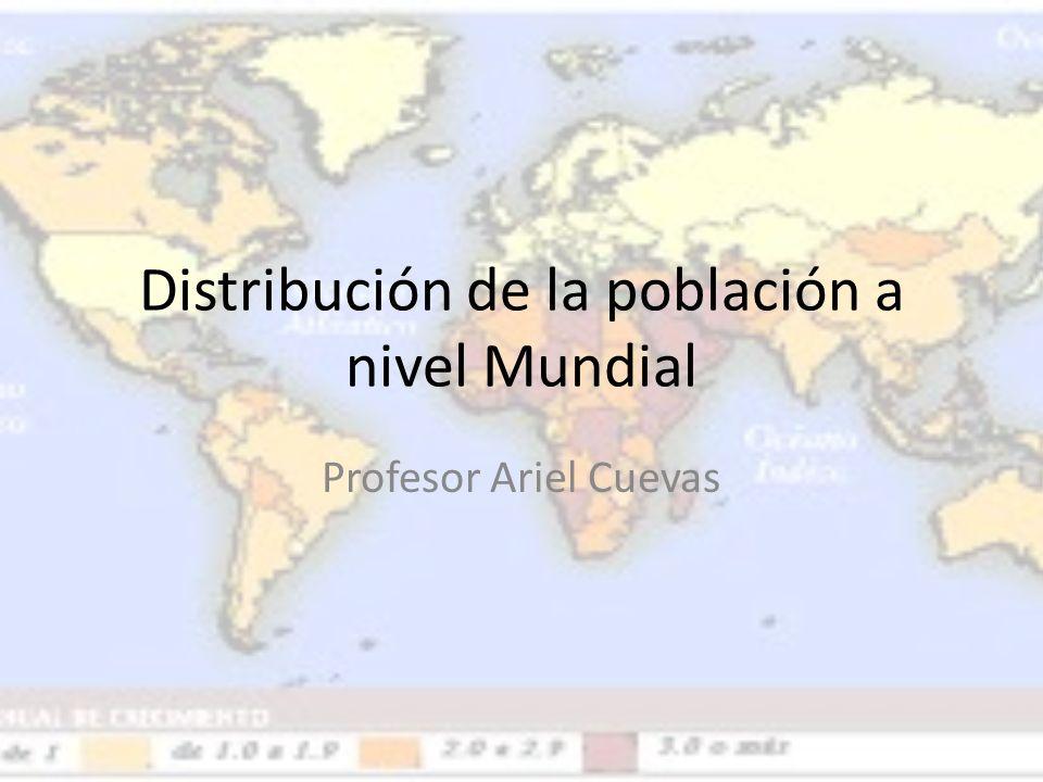 Distribución de la población a nivel Mundial