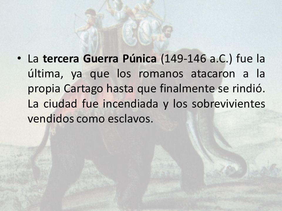 La tercera Guerra Púnica (149-146 a. C