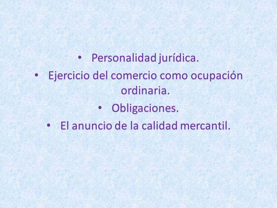 Personalidad jurídica.