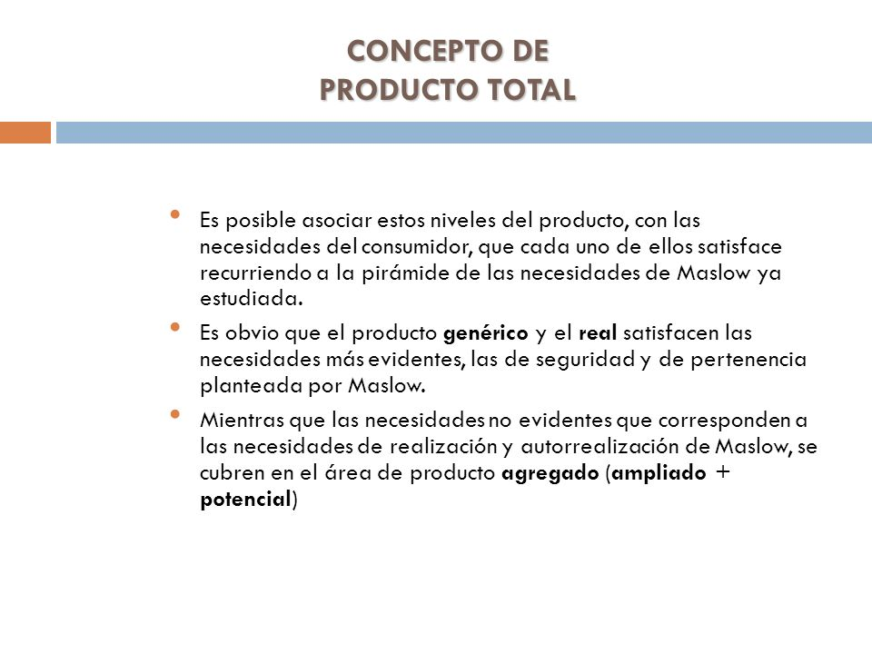 CONCEPTO DE PRODUCTO TOTAL