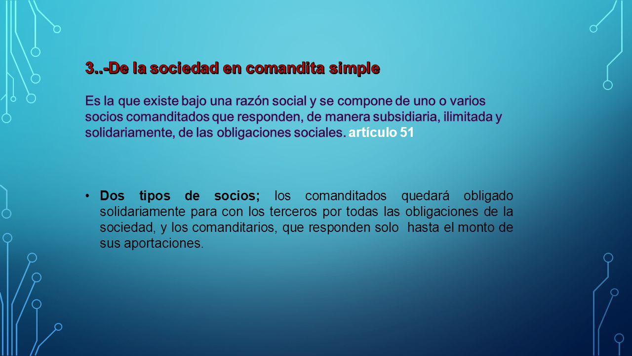 3..-De la sociedad en comandita simple