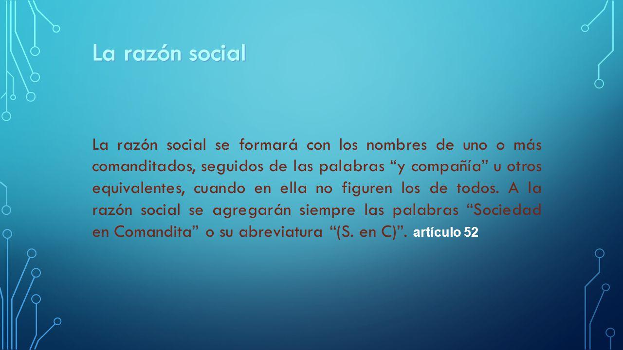 La razón social
