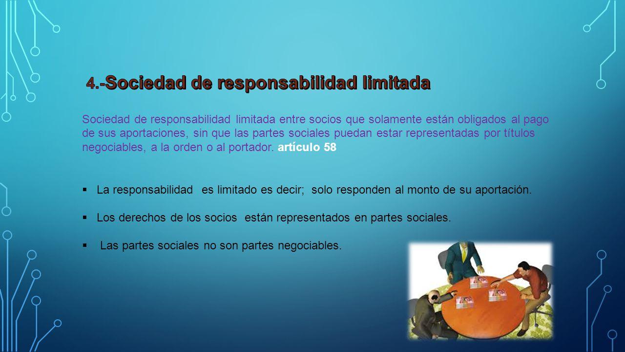 4.-Sociedad de responsabilidad limitada