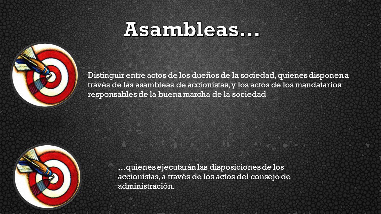 Asambleas…