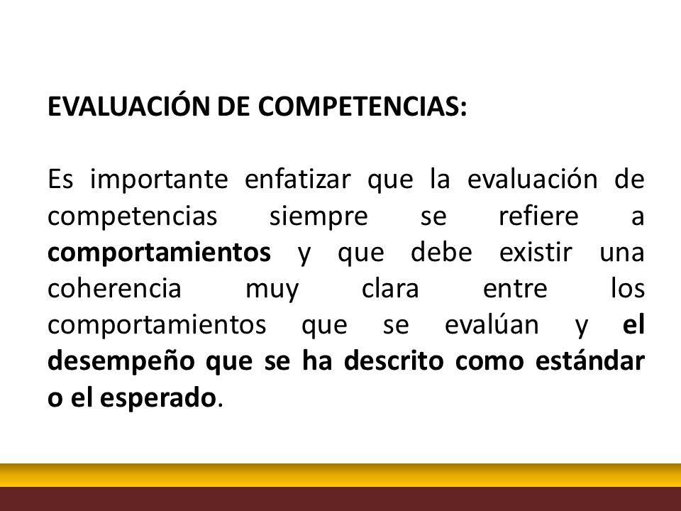 EVALUACIÓN DE COMPETENCIAS: