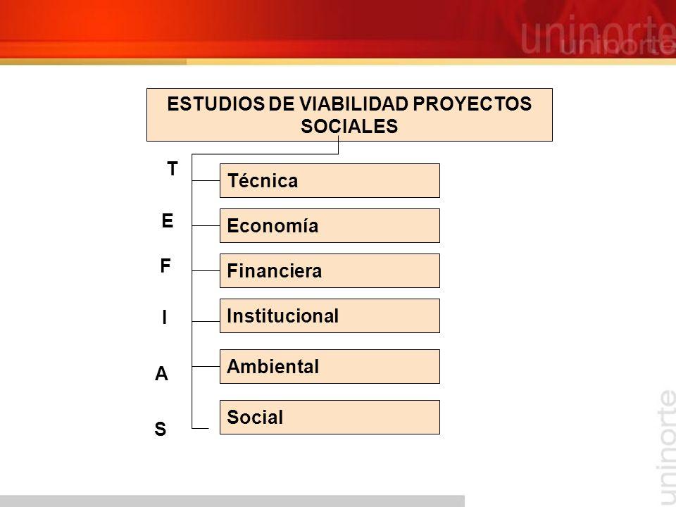 ESTUDIOS DE VIABILIDAD PROYECTOS SOCIALES