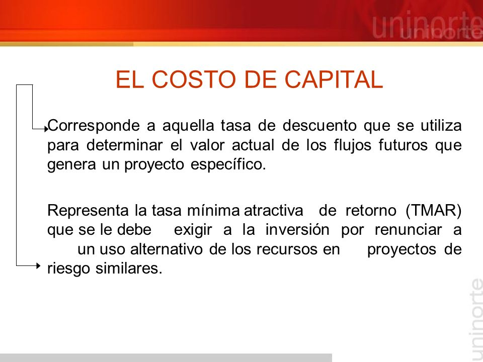 EL COSTO DE CAPITAL