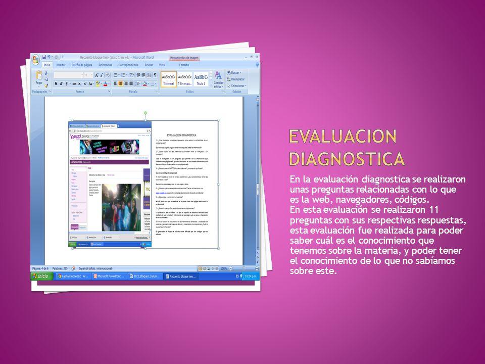Evaluacion diagnostica