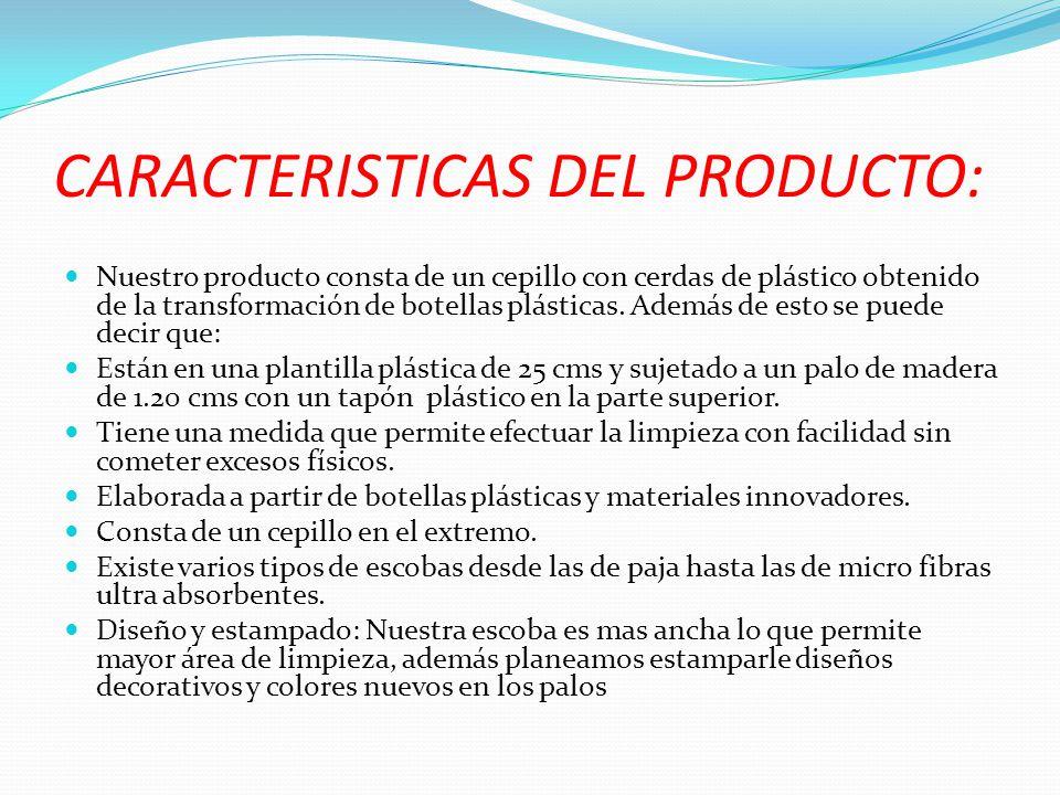 CARACTERISTICAS DEL PRODUCTO: