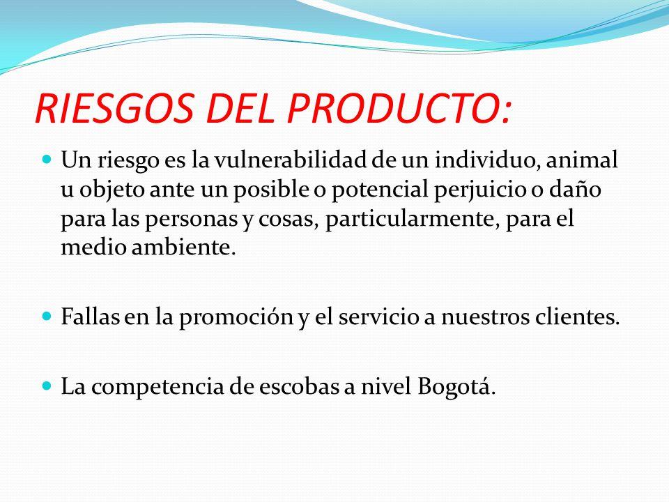 RIESGOS DEL PRODUCTO: