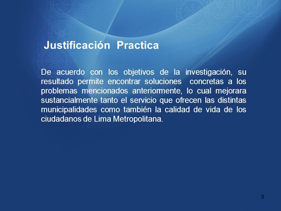 Justificación Practica