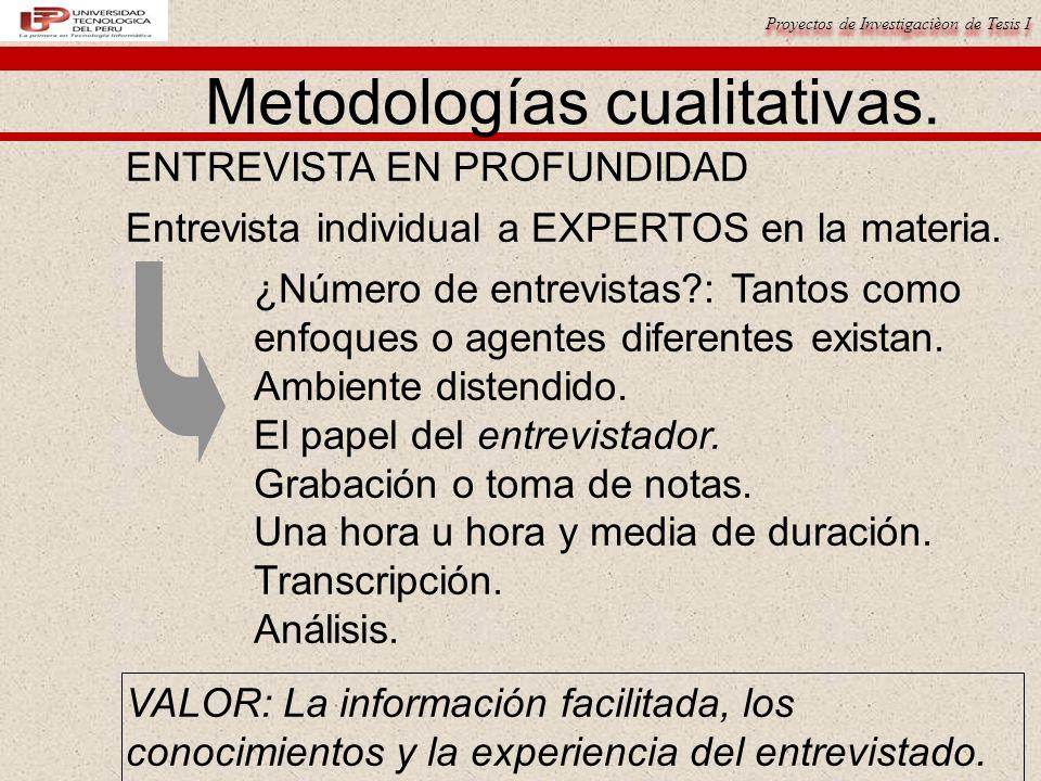 Metodologías cualitativas.