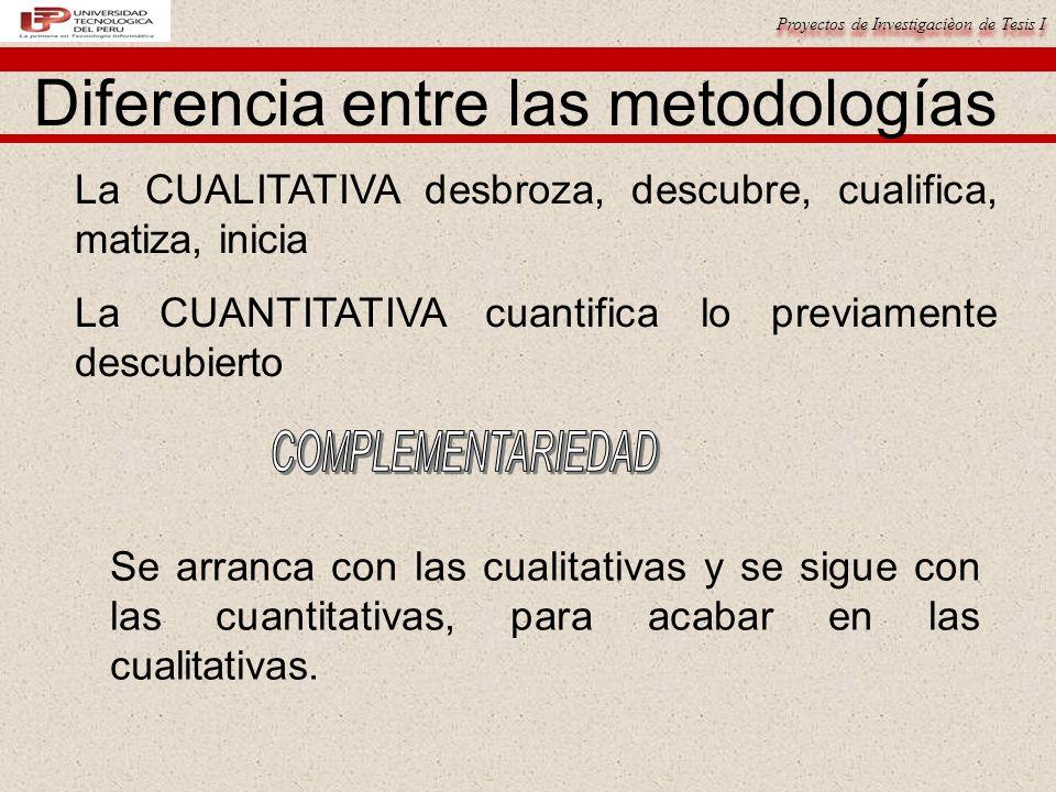 Diferencia entre las metodologías