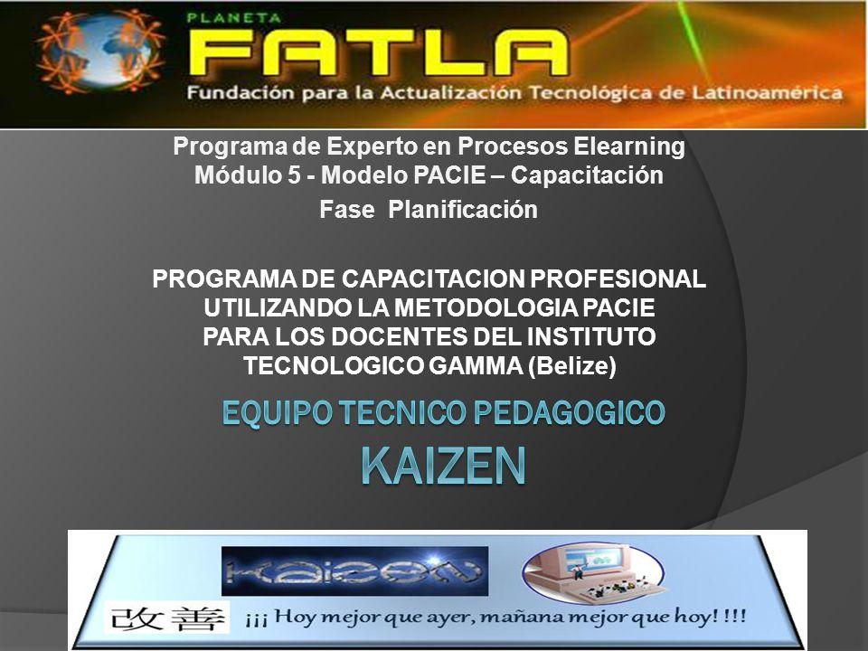 Equipo tecnico pedagogico kaizen