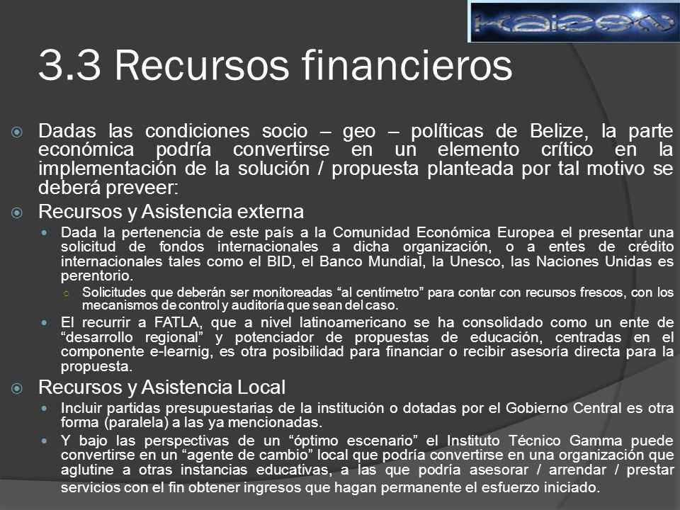 3.3 Recursos financieros