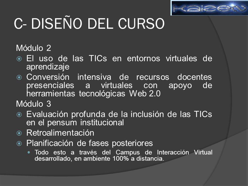 C- DISEÑO DEL CURSO Módulo 2