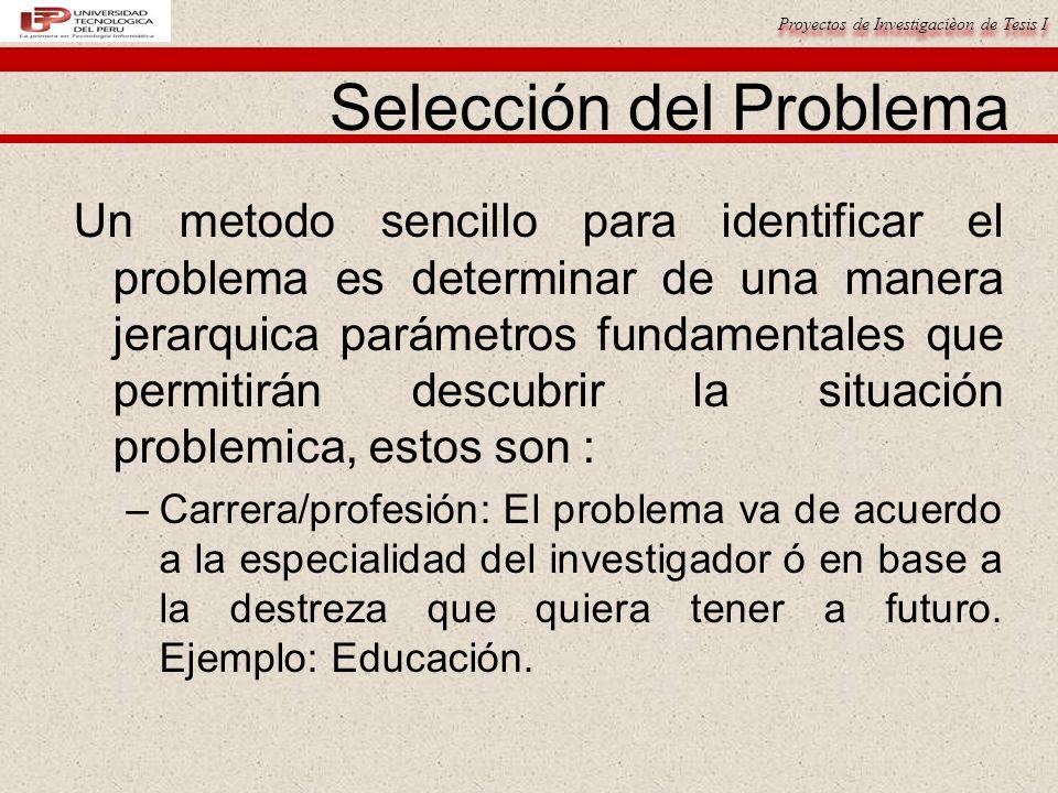 Selección del Problema
