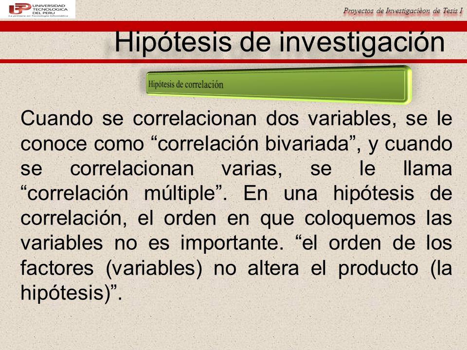 Hipótesis de investigación