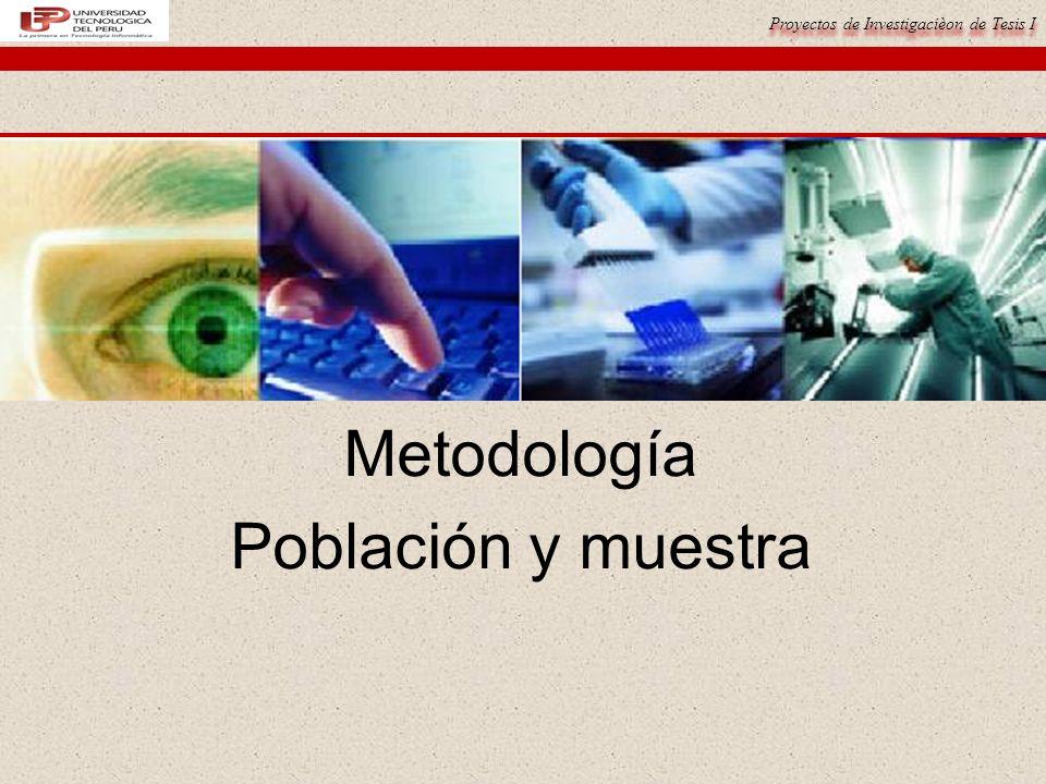Metodología Población y muestra