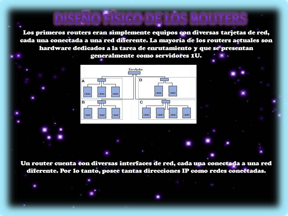 Diseño físico de los routers