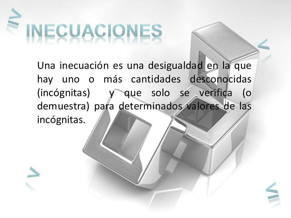 ≥ < > ≤ INECUACIONES