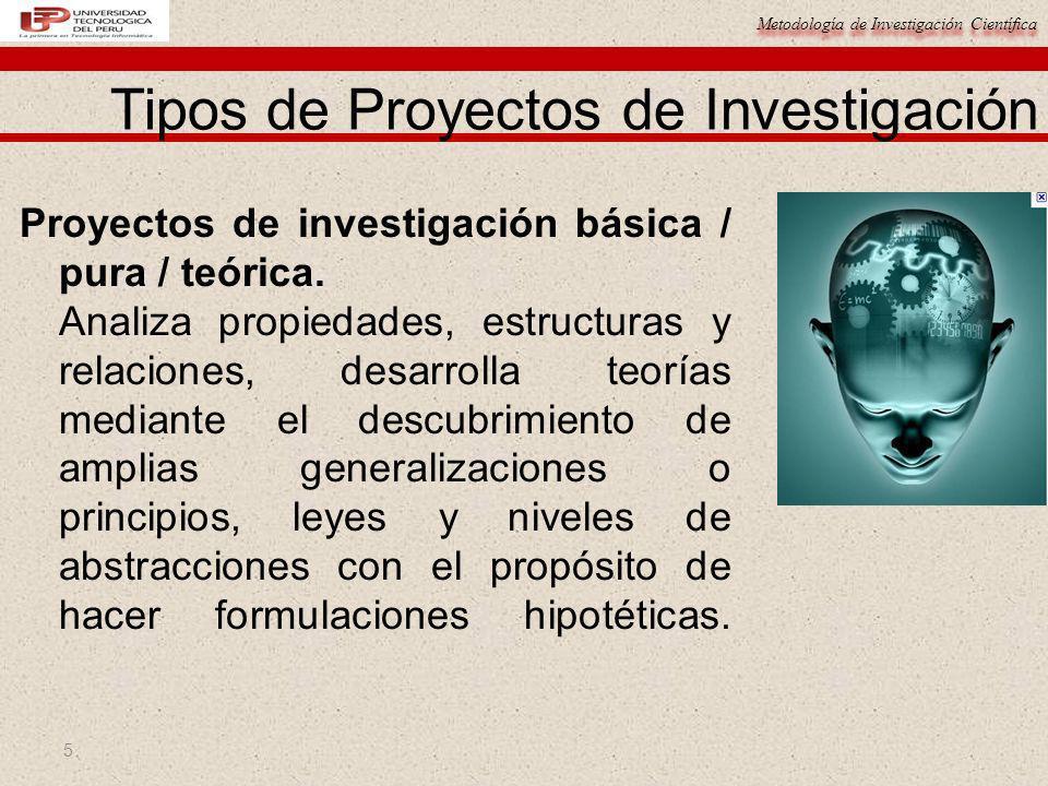 Tipos de Proyectos de Investigación