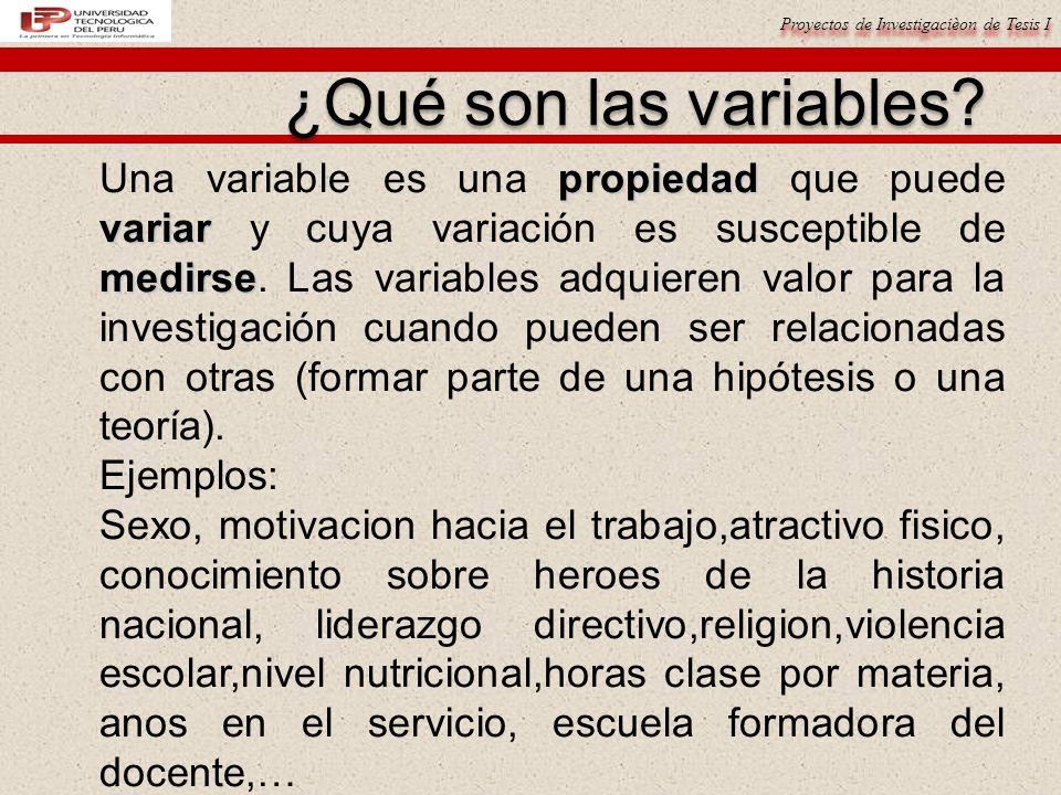 ¿Qué son las variables