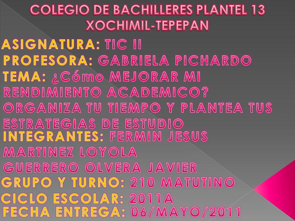 COLEGIO DE BACHILLERES PLANTEL 13 XOCHIMIL-TEPEPAN