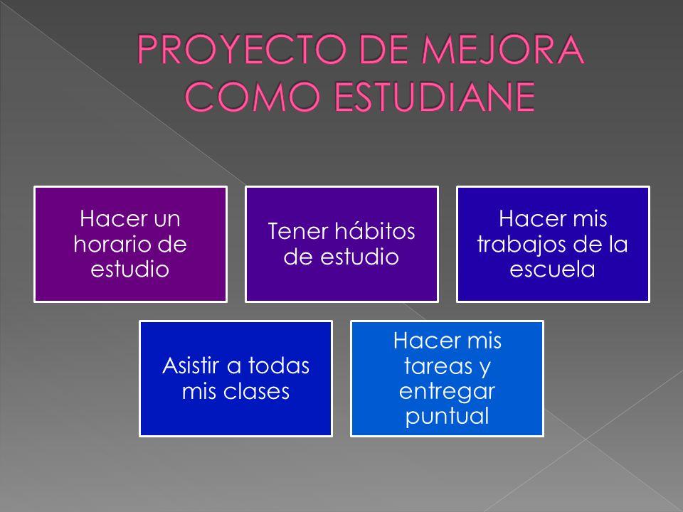 PROYECTO DE MEJORA COMO ESTUDIANE