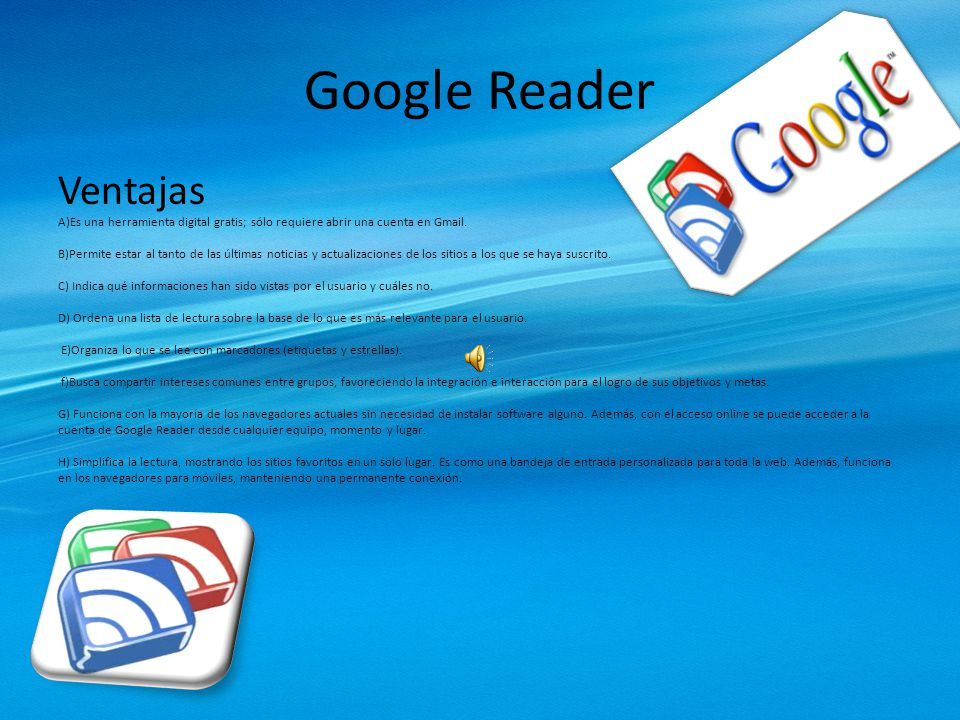 Google Reader Ventajas