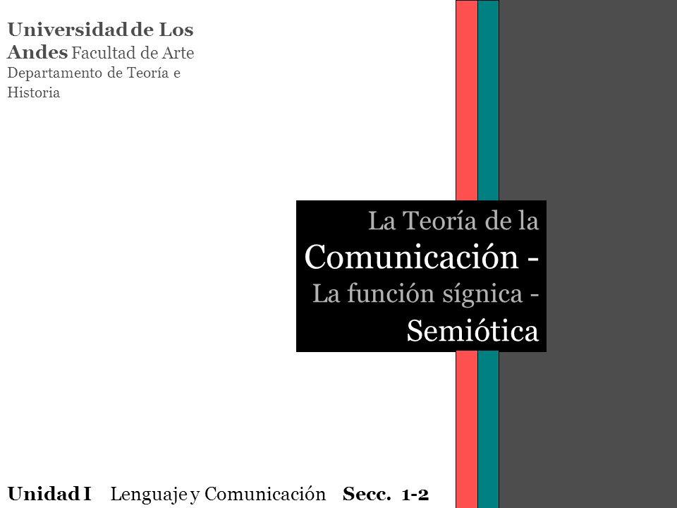 La Teoría de la Comunicación - La función sígnica - Semiótica