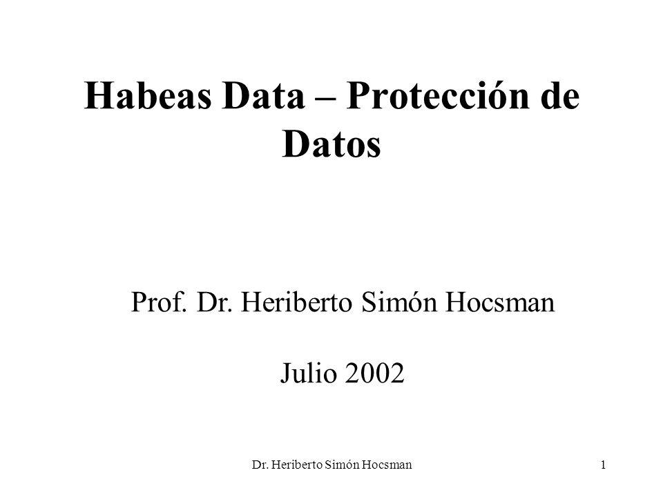 Habeas Data – Protección de Datos