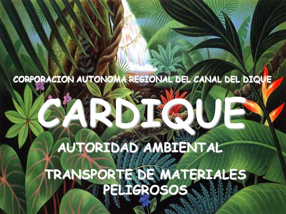 CARDIQUE AUTORIDAD AMBIENTAL TRANSPORTE DE MATERIALES PELIGROSOS