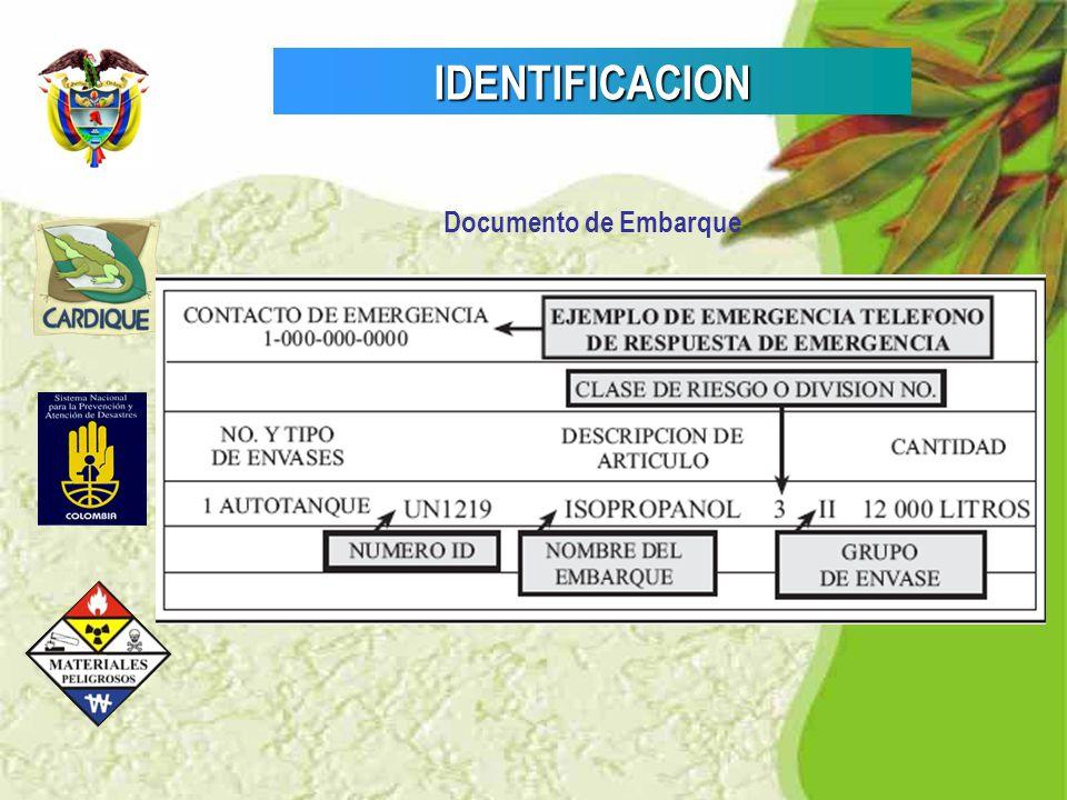 IDENTIFICACION Documento de Embarque