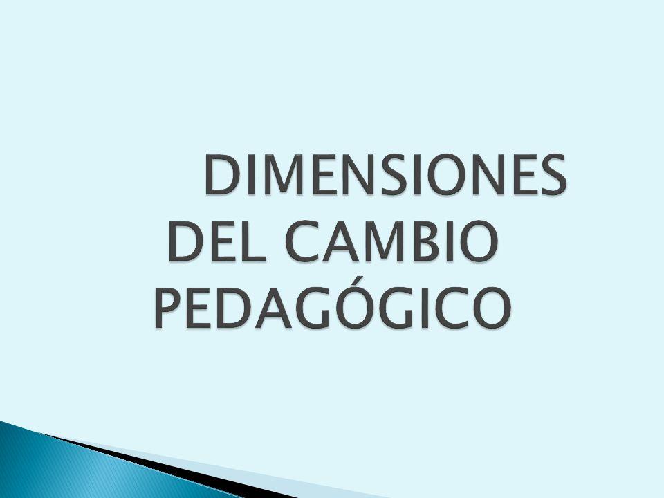 DIMENSIONES DEL CAMBIO PEDAGÓGICO