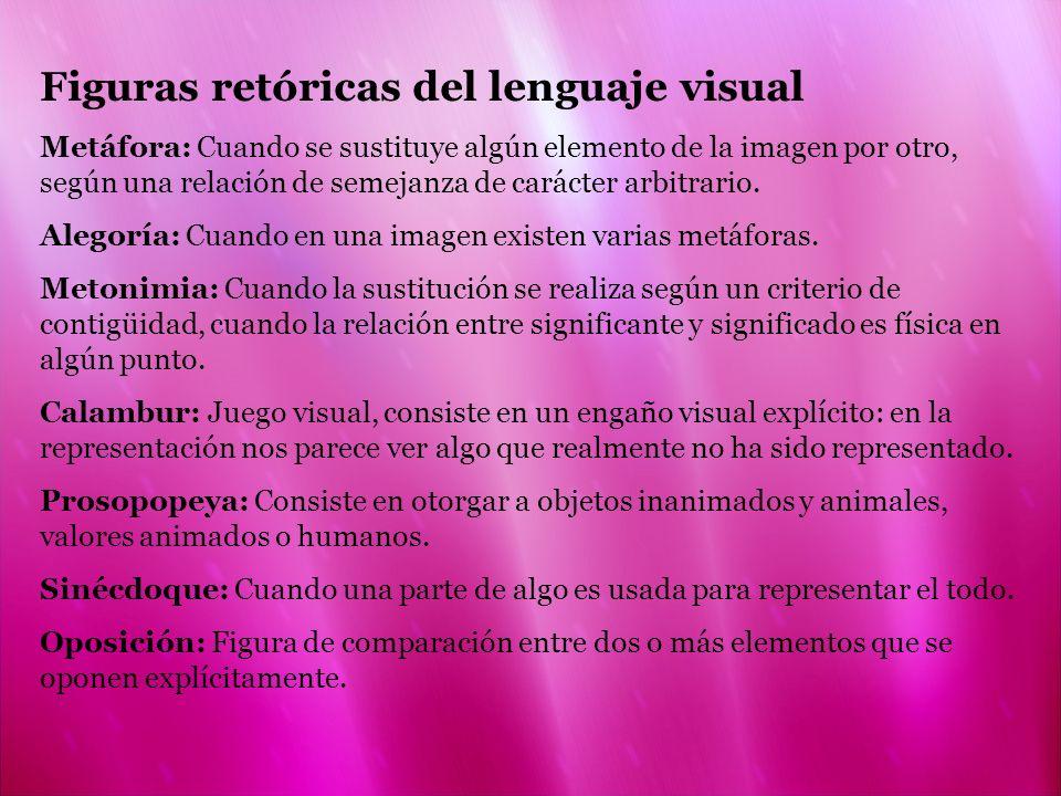 Figuras retóricas del lenguaje visual