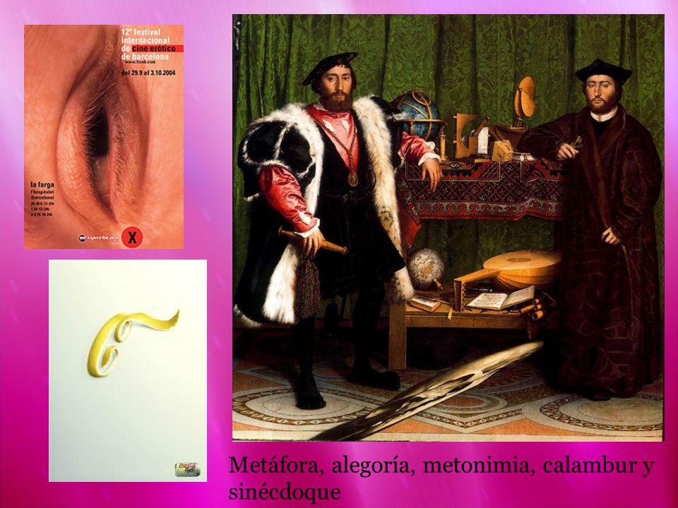 Metáfora, alegoría, metonimia, calambur y sinécdoque