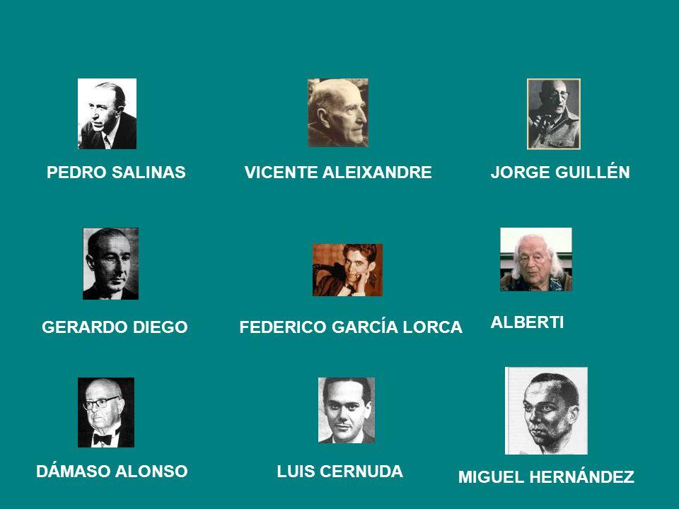 PEDRO SALINAS VICENTE ALEIXANDRE JORGE GUILLÉN ALBERTI GERARDO DIEGO